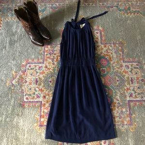 Kate Spade Crepe Bow Dress size 0 in Navy